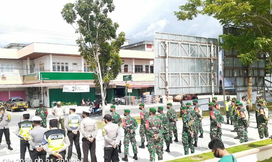 Danramil 01/Ranai Gelar Apel Bersama Untuk Melakukan Operasi Yustisi Penegakan Perbup Nomor 51 Tahun 2020