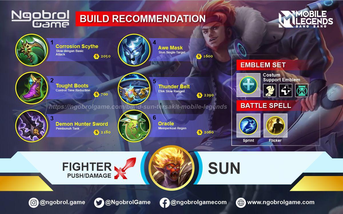 Build Sun Top Global Tersakit Mobile Legends