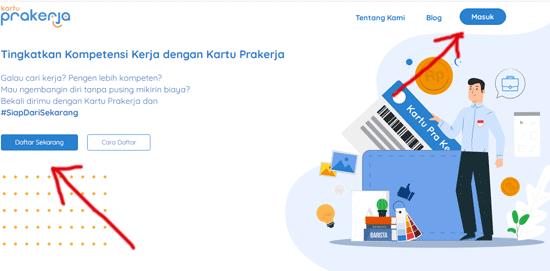 halaman web resmi kartu prakerja