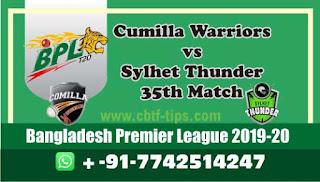 Who will win Today BPL T20, 35th Match Cumilla vs Sylhet - Cricfrog