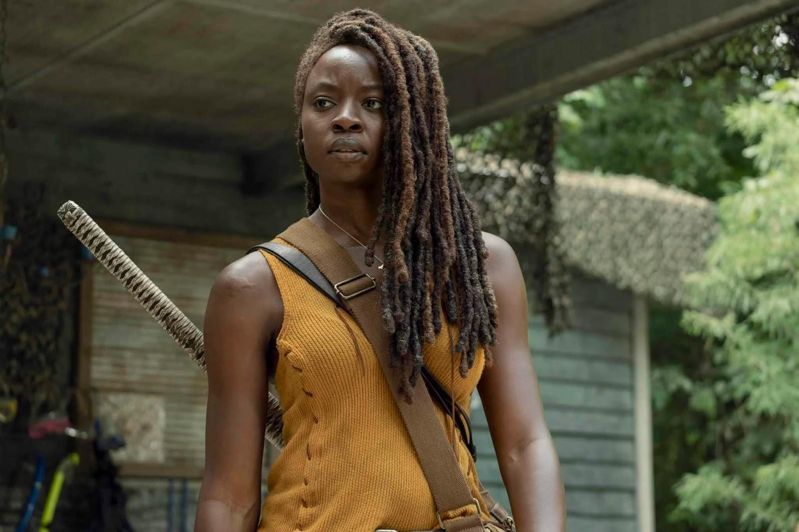 Michonne, en su episodio despedida de The Walking Dead