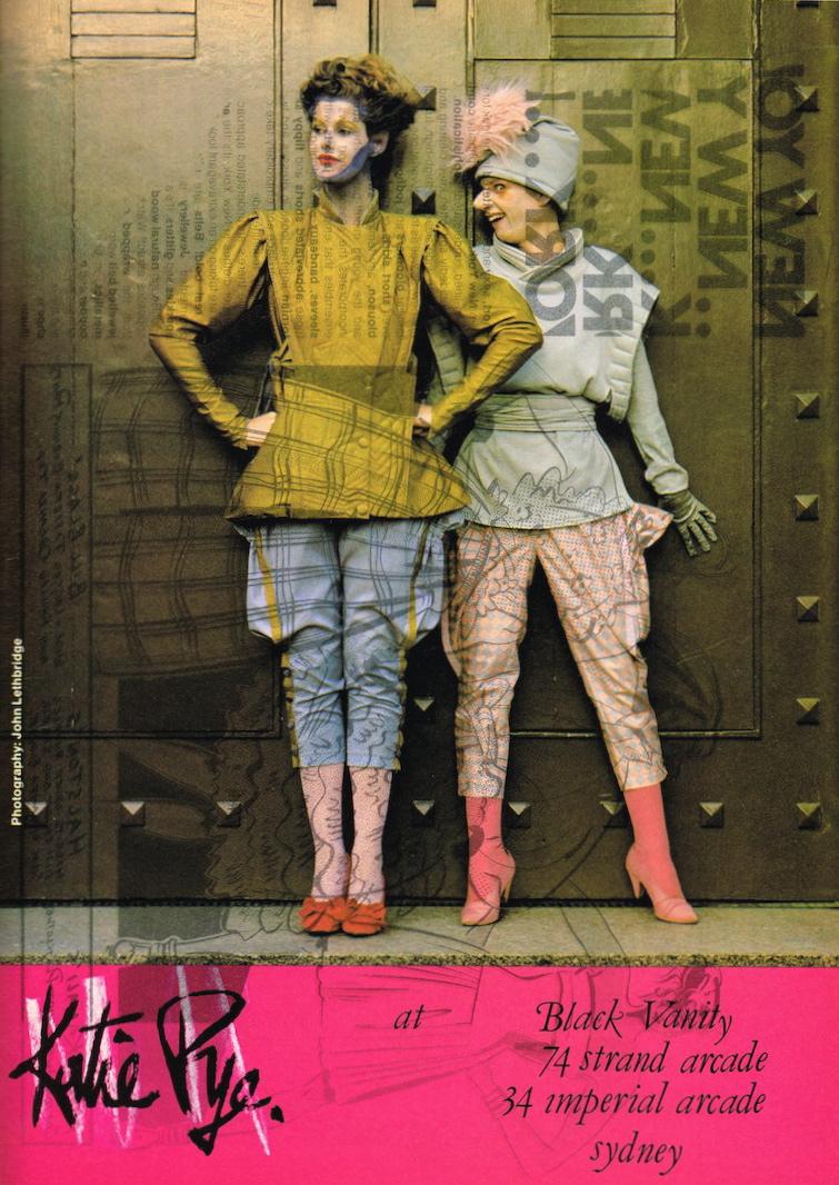 d511eb7e00c0 Glossy Sheen  Katie Pye Advertisement - POL Magazine July 1981