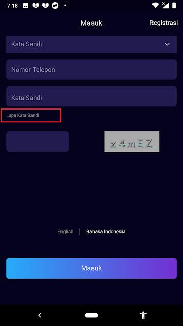 Cara Lengkap Reset atau Ganti Pasword Yang Lupa di Aplikasi Vtube