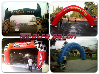 balon gate , balon gapura start finish