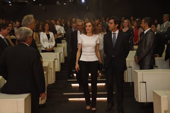 Queen Letizia of Spain attends the presentation of Telefonica's Platform for the Television contents