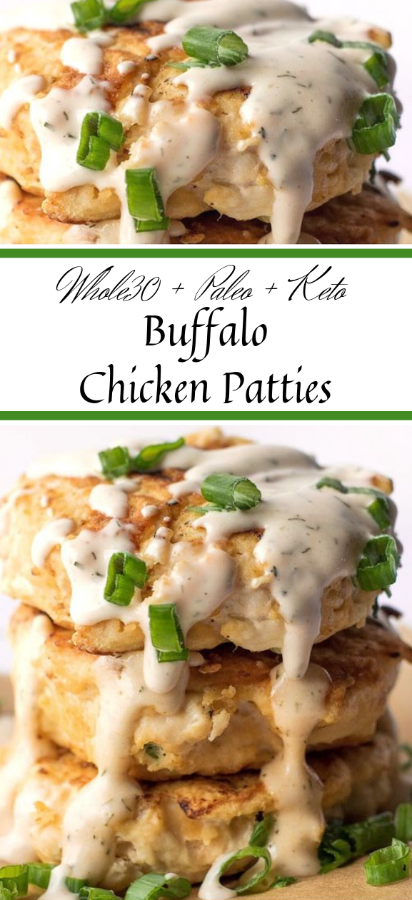 BUFFALO CHICKEN PATTIES WITH SPICY RANCH #diet #paleo #keto #whole30 #lowcarb