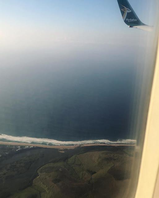 View of Durban, flights to Durban, FlySafair