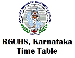 RGUHS Exam Timetable 2017