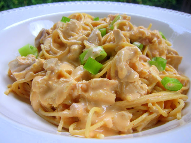 Buffalo Chicken Spaghetti Recipe - chicken and spaghetti tossed in a ...