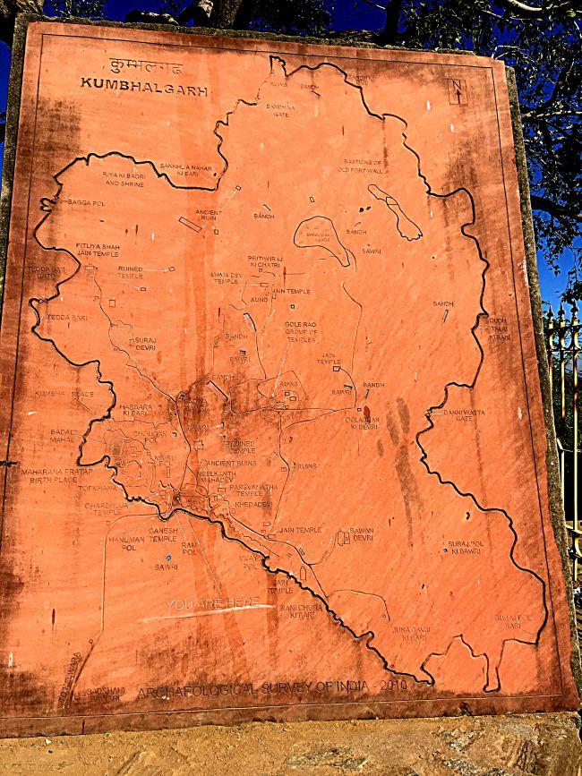 Map of Kumbhalgarh Fort