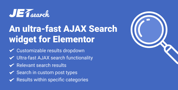 JetSearch v2.1.10 - AJAX Search widget for Elementor