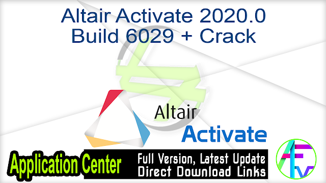 Altair Activate 2020.0 Build 6029 + Crack