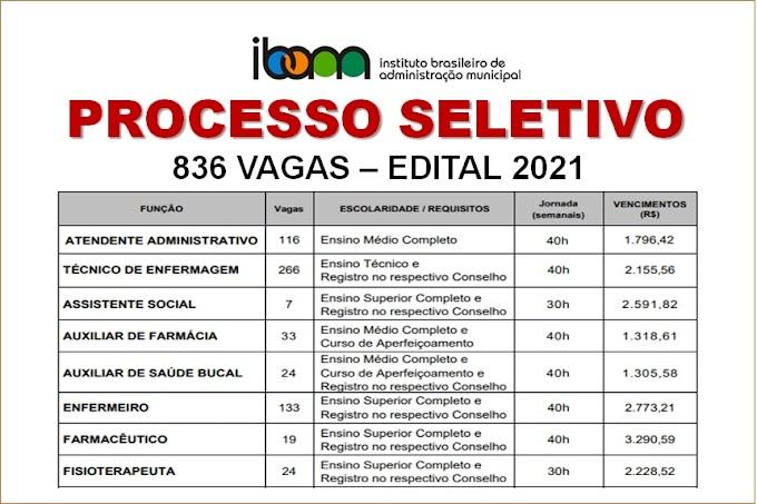 Aberto Processo Seletivo com mais 800 vagas para níveis médio e superior com salários até R$ 7.892,99. Saiba Mais