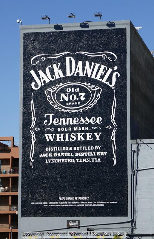 Jack Daniels Whiskey mural ad