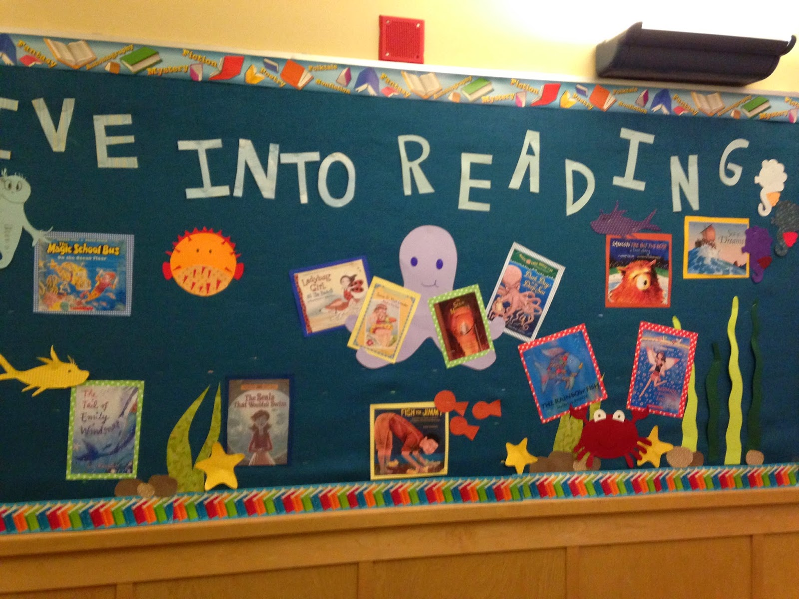 Librarian on Display: Bulletin Board: Dive Into Reading!