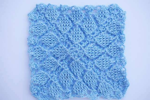 1 - Crochet Imagen Puntada colcha infinita de hojas en relieve a crochet por Majovel Crochet