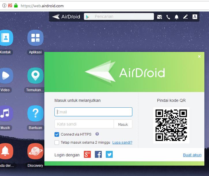 cara login web airdroid sadap wa