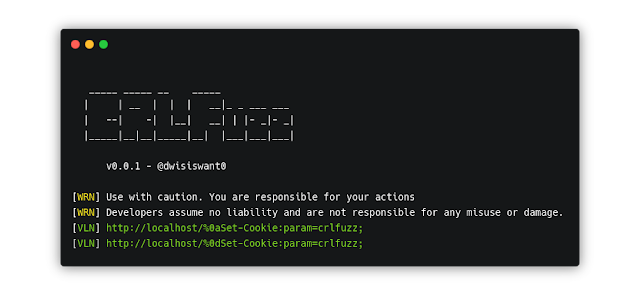 CRLFuzz – A Fast Tool To Scan CRLF Vulnerability Written In Go