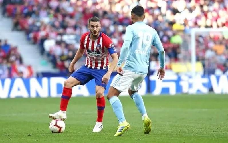 مباراة اتلتيكو مدريد وسيلتا فيجو في الدوري الاسباني