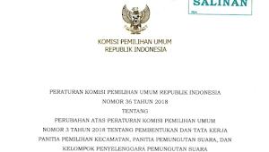 Download PKPU RI Nomor 36 Tahun 2018