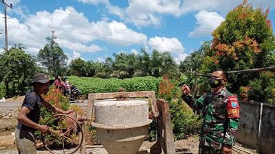Perbaikan Mesin Molen Pasca Kegiatan TMMD Ke-111 Kodim 1207/Pontianak di Dusun Maju Jaya