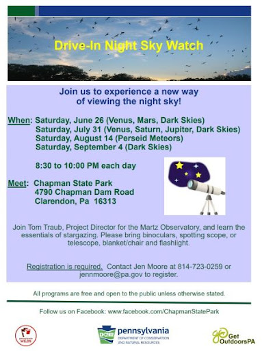 7-31 Multiple Weekend Chapman State Park Event