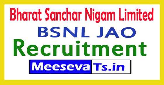 Bharat Sanchar Nigam Limited BSNL Junior Accounts Officer Recruitment 2017