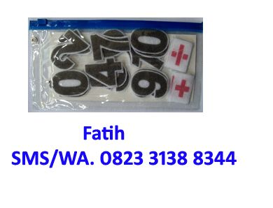 pack flanel set angka