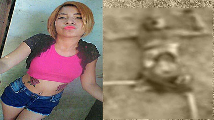 Fotos, Jovencita se creía y presumía ser parte del Narco, la Contra la levanta y la ejecuta!