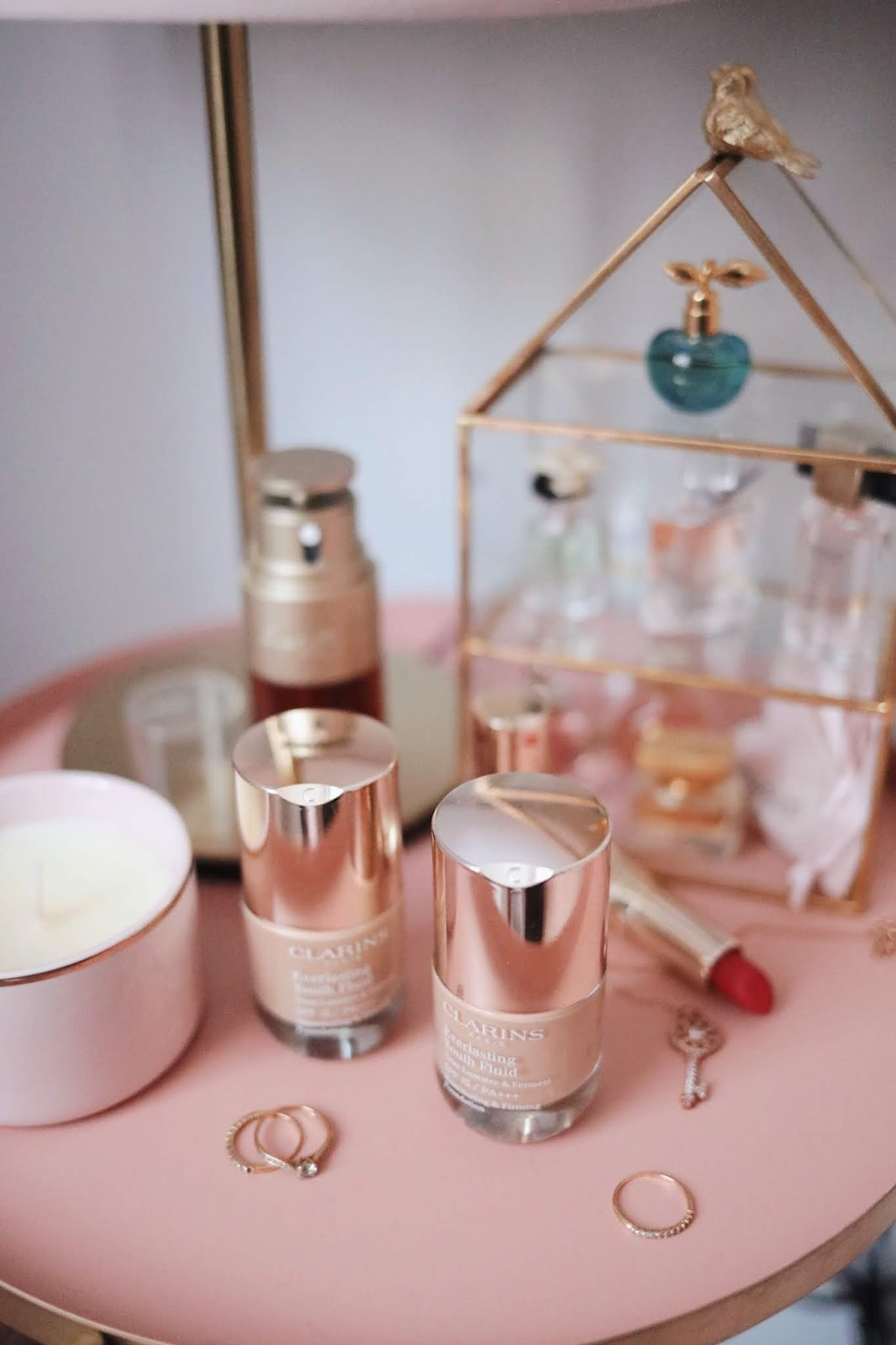 CLARINS , EVERLASTING YOUTH FLUID, Clarins France , rose mademoiselle, rosemademoiselle,blog beauté , paris