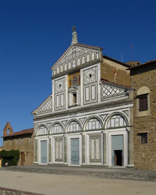 Facade of San Miniato al Monte, Viale dei Colli, Florence