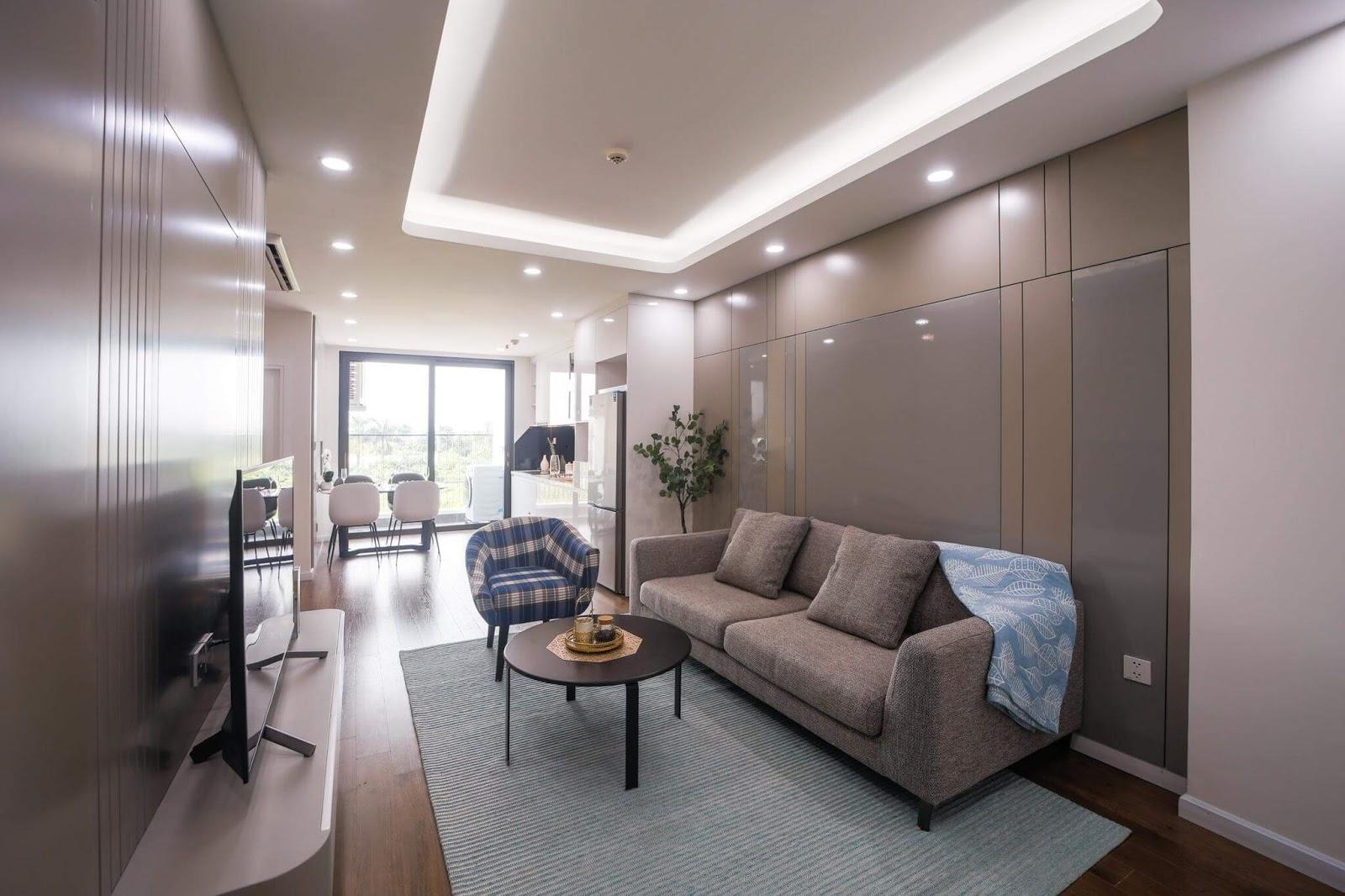 Phòng khách căn hộ AQH Riverside.