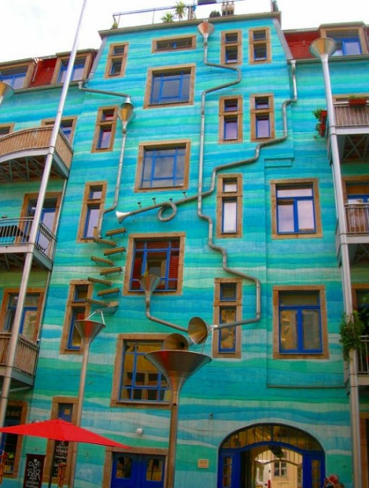 street art. Edificio musical
