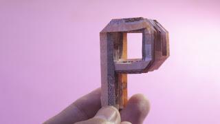 how to make money 3d origami alphabet P easy hướng dẫn cách gấp chữ P bằng tiền giấy
