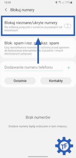 Jak zablokować numer prywatny?