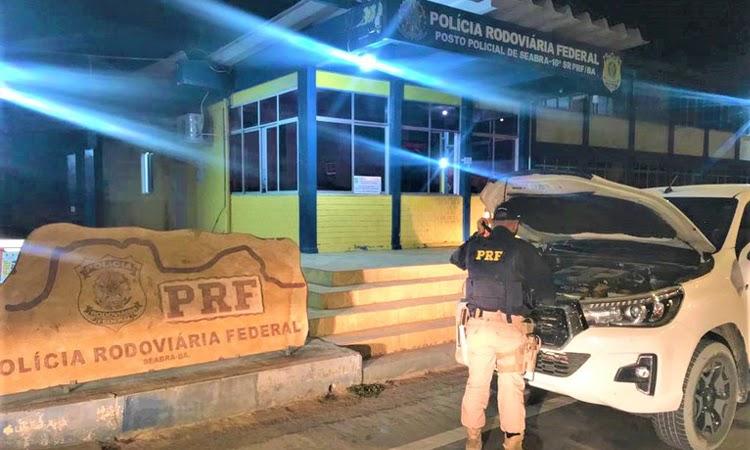 Caminhonete Hilux furtada em São Paulo é recuperada pela PRF na Chapada Diamantina