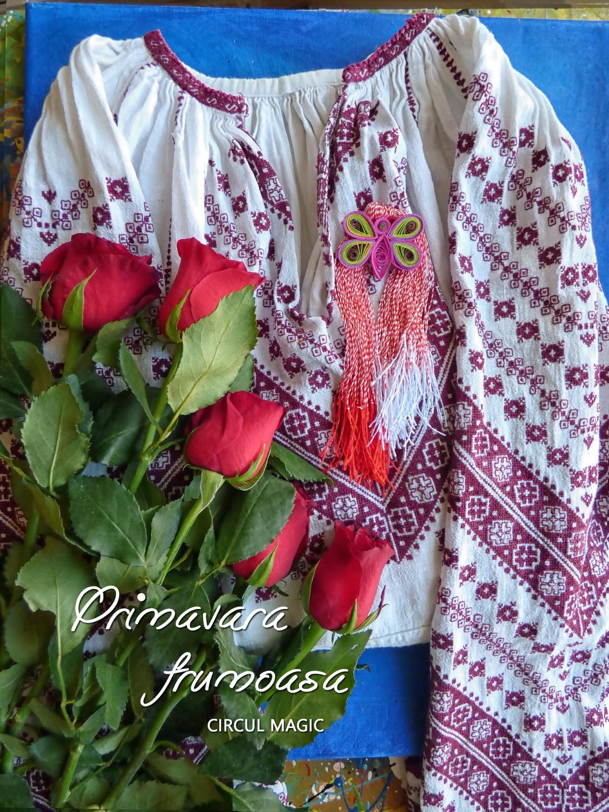 Mesaj 1 martie martisor Primavara ie trandafir Circul Magic