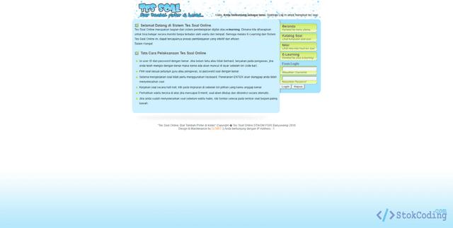 Sistem Aplikasi E-Learning Berbasis Web (PHP)