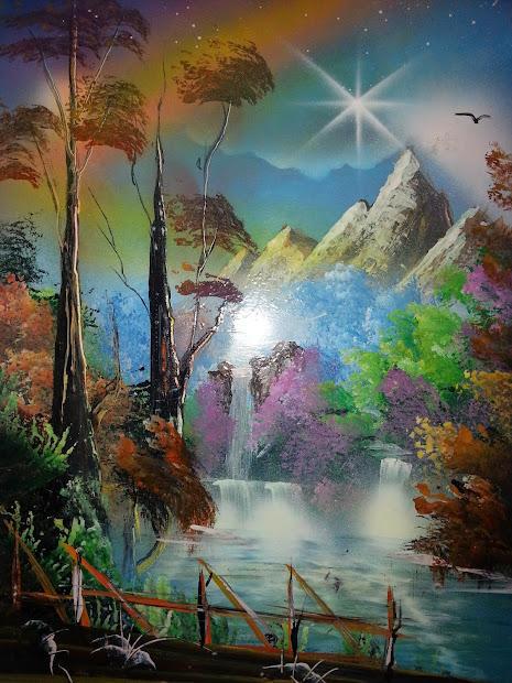 "Spray Paint Art Works - 20""x14"" Magic"