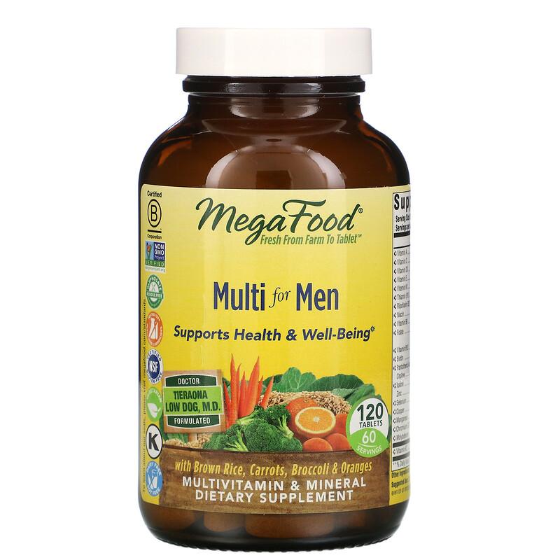 MegaFood, мультивитамины для мужчин, 120 таблеток
