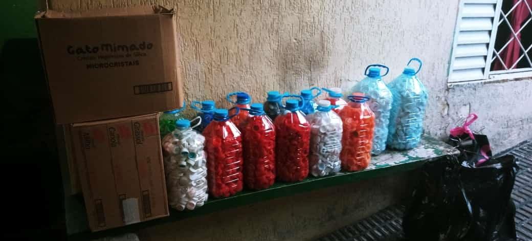 Chegou mais tampinhas plásticas no SHD para o Guapa através da parceria com Heróis dos Lacres