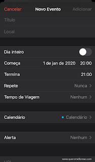 Calendário do Iphone como colocar lembretes que se repetem