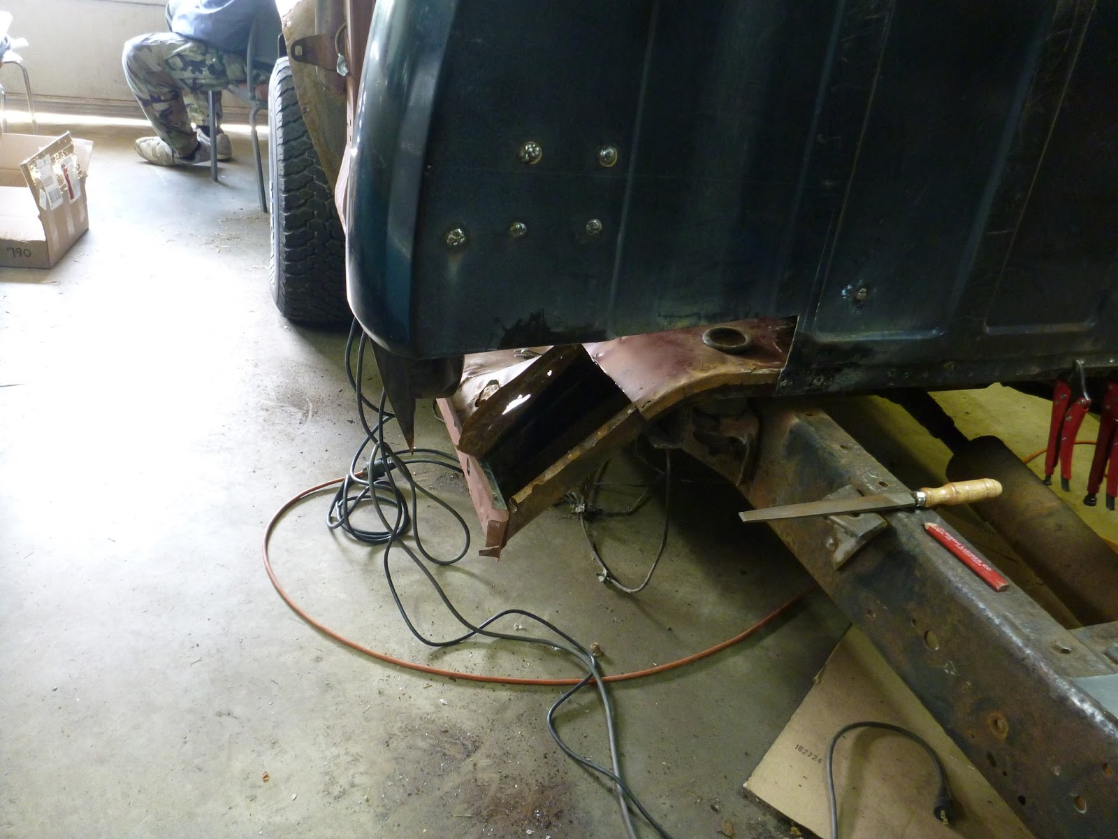 1978 Dodge Club Cab Resto Repaired The Rear Floor And