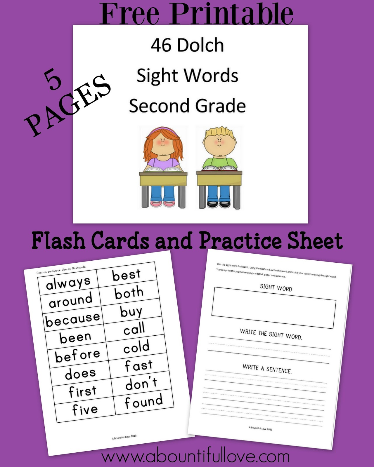 46 Dolch Sight Words For Second Grade