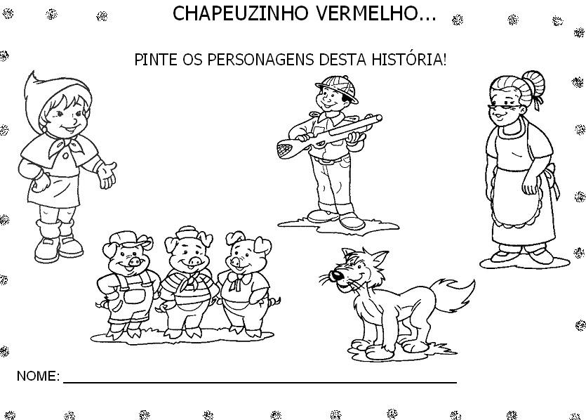 Resultado de imagem para atividades chapeuzinho vermelho educação infantil
