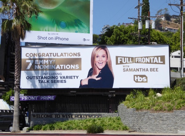 Full Frontal Samantha Bee 2017 Emmy nominations billboard