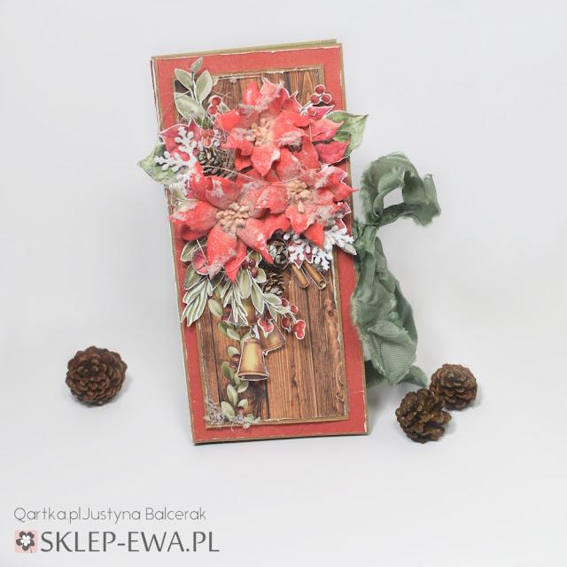 Czekoladownik Świąteczny z kwiatami z efektem szronu