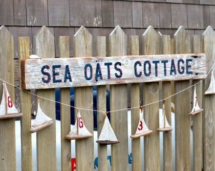 beach cottage name sign