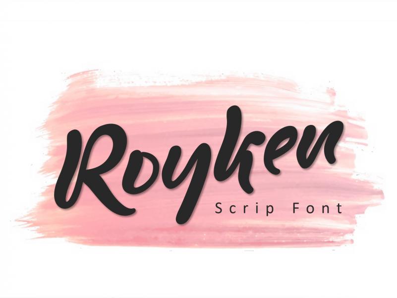 Royken Font - Free Brush Display Typeface