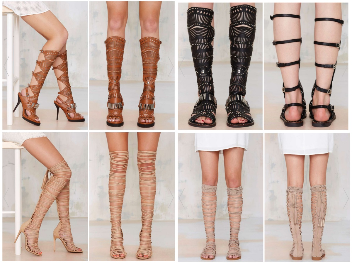 5a9fa53c1406 Top (left to right)  Bellona Leather Knee-High Sandal by Jeffrey Campbell (  290)